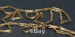 Antique 14K Gold Pocket Watch Chain Unique Link 14 1/4 10.7 grams