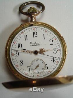 Antique 14K Solid Gold Minute Repeater with Chronograph Pocket Watch