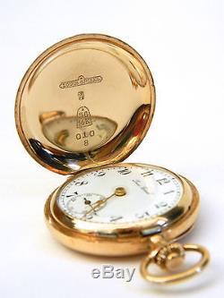Antique 14K Yellow Gold Louis Grisel Pocket Watch Double Hunter Case Not Scrap