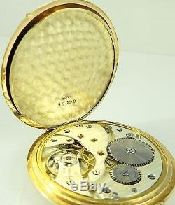 Antique 14 carat gold Silvana Swiss dress pocket watch In Good Working Order