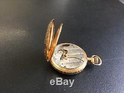 Antique 14ct Gold Waltham Hunter Pocket Watch