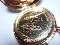 Antique 14k Solid Gold Hunter Size 6 Heavy 44.5 Grams Fancy Not Scrap Running