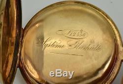 Antique 14k gold&enamel System Glashutte pocket watch for Persian market. 108g