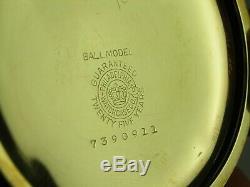 Antique 16s Ball Waltham Order of Railway Conductors 17 jewel pocket watch. 1901