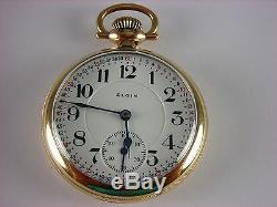 Antique 16s Elgin Veritas 23j Rail Road pocket watch 1918. Beautiful stag case