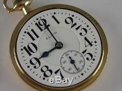 Antique 16s Elgin Veritas 23j Rail Road pocket watch 1919. Beautiful case