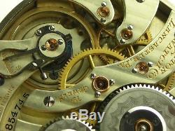 Antique 16s Hamilton 952 19j Rail Road pocket watch. Original Box. Made 1913