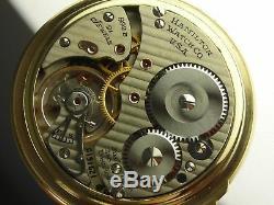 Antique 16s Hamilton 992B Rail Road pocket watch 1946. 21j. Nice Hamilton case
