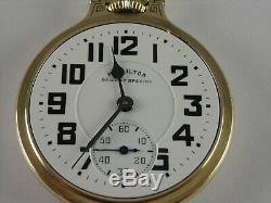 Antique 16s Hamilton 992B Rail Road pocket watch. 1947. Two tone Wadsworth case