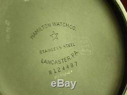 Antique 16s Hamilton 992B Rail Road pocket watch. Made 1944. 21j. Nice watch