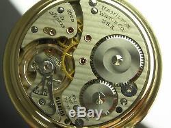 Antique 16s Hamilton 992B Rail Road pocket watch. Made 1946. Canadian dial