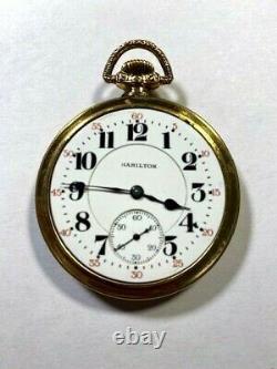 Antique 16s Hamilton 992 21jewel Railroad Rr Pocket Watch
