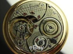 Antique 16s Illinois Bunn Special 23 Ruby jewels Rail Road pocket watch. 1922