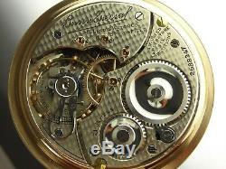 Antique 16s Illinois Fishscale Bunn Special 21j Rail Road pocket watch made 1914