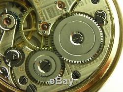 Antique 16s Omega 17j Canadian Railway pocket watch. Gold Filled. Serviced. 1903