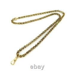 Antique 1800s 14K Yellow Gold Pocket Watch Chain Necklace 5.3mm x 25