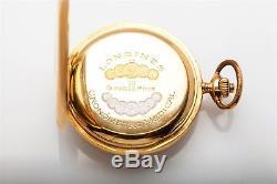 Antique 1800s Longines 18k Yellow Gold CHRONOMETER Grand Prix Pocket Watch 96g