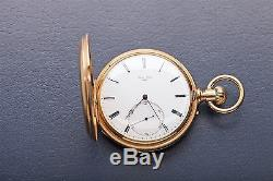 Antique 1800s Signed NARDIN 18k Yellow Solid Gold POCKETWATCH 115g