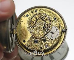 Antique 1807 George O'Reilly Dublin Ireland Sterling Silver Pocket Watch