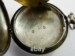 Antique 1814 Silver Langford Southampton Verge Hunter Pocket Watch Nw For Repair