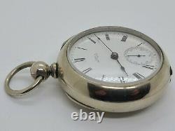 Antique 1877 WALTHAM'Civil War Era' Silver Victorian Key Wind Pocket Watch 18s