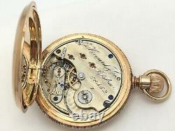 Antique 1880's E. Howard & Co 15J Series V Pocket Watch 14k Gold B. W. C. Co recase