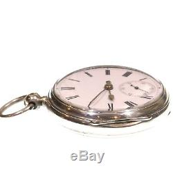 Antique 1884 Pocket Watch Silver Fusee Lever. Serviced