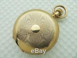 Antique 1885-1890 PATEK PHILIPPE & CO. 18K SOLID GOLD POCKET WATCH 51.5 mm