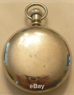 Antique 1888 American Waltham Watch Co Silveroid Pocket Watch 18 Sz Working