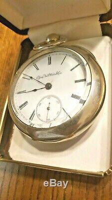 Antique 1889 Key Wind Elgin Size 18 Pocket Watch