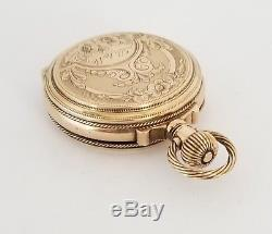 Antique 1890 Illinois Solid 10k Gold Dueber Double Hunter Box Hinge Pocket Watch