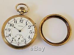 Antique 1892 WALTHAM'Appleton Tracy' 17J Victorian Gold G. F. Pocket Watch 18s