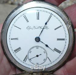 Antique 1895 Elgin Coin Silver 18 Size Pocket Watch Pocketwatch
