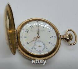 Antique 1898 ELGIN'Fancy Dial' Gold G. F. Victorian Full Hunter Pocket Watch 16s