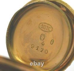Antique 18K Gold Diamond Pearl & Enamel Pendant Watch Swiss