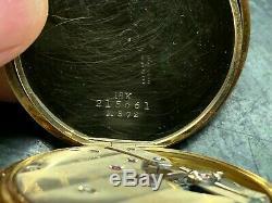 Antique 18K Gold Tiffany & Co Hunting Case Pocket Watch Runs Great Vintage