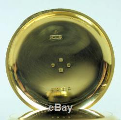 Antique 18 Ct Gold Half Hunter'the Field' J. W. Benson Pocket Watch G. W. O. 110 G