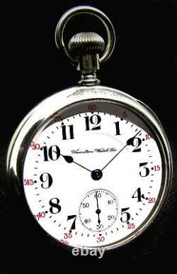 Antique 18 Size Salesman Display Case Railroad Pocket Watch Hamilton 940