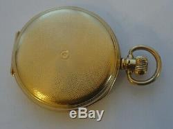 Antique 18ct Solid Gold, American Waltham Riverside Hunter Cased Pocket Watch