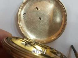 Antique 18k Gold Jumping Jump Hour Minute Repeater French Pocket Watch