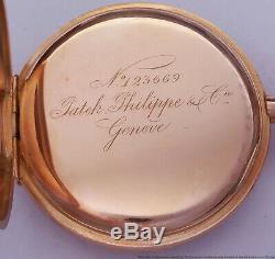 Antique 18k Rose Gold Chronometre Gondolo Patek Philippe Box Papers