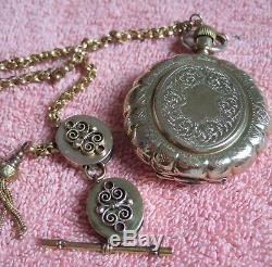 Antique 18kt gold Patek Philippe pocket watch w original display box 1870's Rare