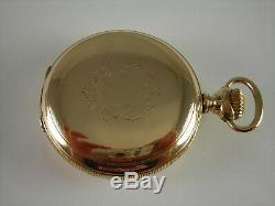 Antique 18s Agassiz 20 jewel Railway pocket watch. Gold Filled. Serviced. Nice