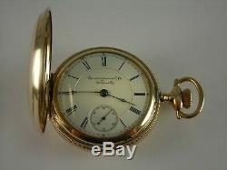 Antique 18s Aurora Mermod Jaccard & Co. St. Louis MO. 15 jewel pocket watch 1886