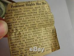 Antique 18s B. W Raymond 19 jewels Rail Road pocket watch. Includes box & History