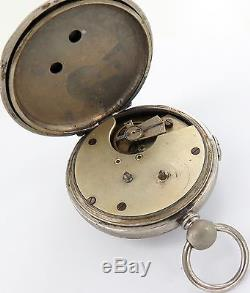 Antique 18s Chronograph Centre Seconds Twin Key Wind Pocket Watch, Working