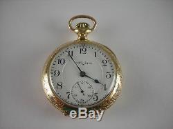 Antique 18s Elgin Veritas hi-grade 23j Rail Road pocket watch 1902. Lovely case