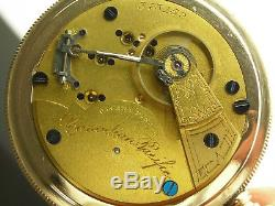 Antique 18s Hampden Canadian Pacific Railway pocket watch. Very rare! Made 1885