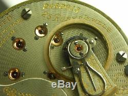 Antique 18s Illinois Bunn Special 23 Ruby jewels Rail Road pocket watch. 1912