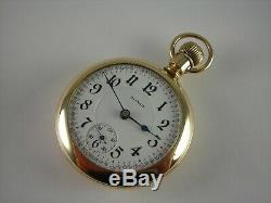 Antique 18s Illinois Bunn Special 23 Ruby jewels Rail Road pocket watch. 1913